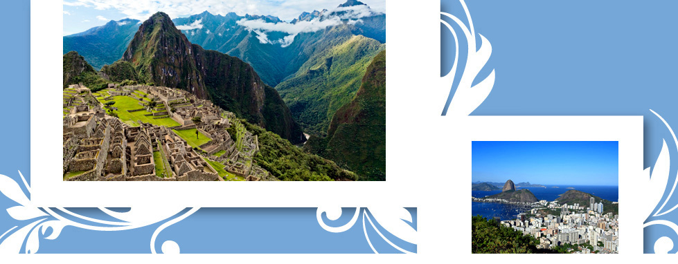 Up to $800 Air Credit per couple on 2015 South America Vacations.*