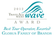 Travel Age West WAVE Award for Best Escorted Tour Operator in 2013
