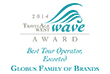 Travel Age West WAVE Award for Best Escorted Tour Operator in 2014
