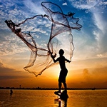 Net Fishing in Asia
