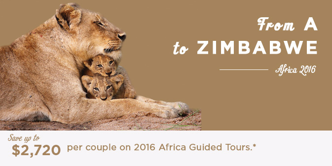 2016 Africa Guided Tour Deals
