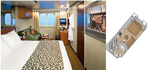Holland America ms Eurodam - Category D Full Ocean-view Stateroom