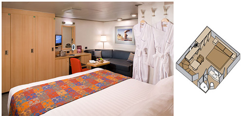 Holland America ms Eurodam - Category J Large Interior Stateroom