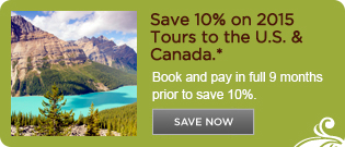 Save 10% on 2015 North America Vacations