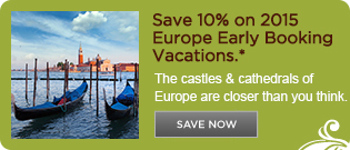 Save 10% on 2015 Europe Tours