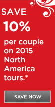 Save 10% on 2015 North America Tours