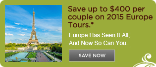 Save up to $400 per couple on 2015 Europe Tours with United Airlines